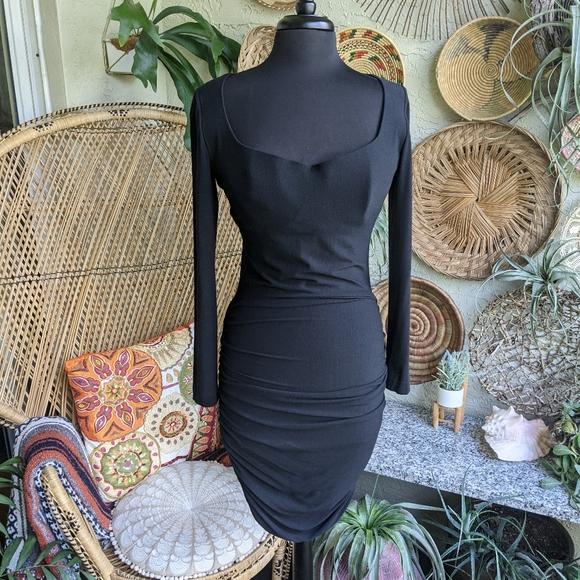 Vintage La Perla Ritmo Bodycon Dress Italian Black